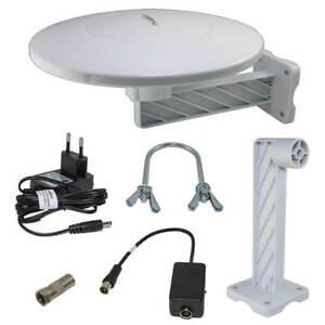 DVB-T2 Außenantenne AKTIV + 46 dB Antenne Freenet TV Hohe Reichweite Full HD 4K