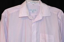 MEN'S JOSEPH & FEISS NON-IRON BUTTON-DOWN STRIPED DRESS SHIRT - SIZE 16 (34/35)