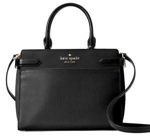 New Kate Spade New York Staci Medium Satchel Leather Black