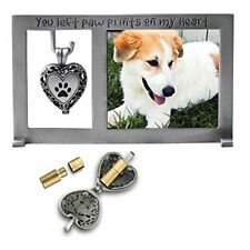 New listing Cathedral Art Pet Memorial Frame with Vial for Ashes,Holds 2-1/2X2-1/4inch photo