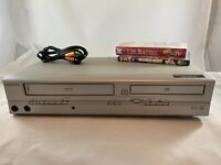 Emerson EWD2004 DVD VCR Combo 4-Head Hi-Fi Stereo VHS Player *TESTED + EXTRAS!*