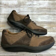 Dockers 13M Brown Leather Toning Walking Sneaker Active Balance Lace Up Mens