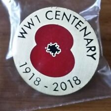 WW1 CENTENARY 1918-2018 POPPY BADGE