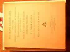 Cat de vente bibliophilie / Editions originales romatiques et modernes Mars 1939