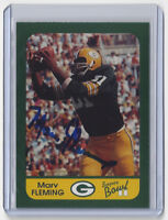 PACKERS Marv Fleming signed card SB II AUTO Autographed Super Bowl II Green Bay