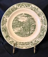 "Shawnee Creek Kilns Richmond Indiana 10"" Collector Plate Green"