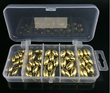 Brass non-lead Drop shot weights tackle box 42pcs