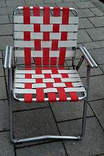 Vintage Aluminium Folding,Lawn Chair 1950 USA,Klappstuhl,2,5 kg,Designmöbel