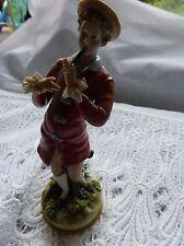 "Figurine of a flautist ""Capo De Monte"" fine porcelain"