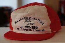 Rare Vtg Ron Lamb's Color Clinic Great Bend Ks Porter Paint Trucker Snapback Hat