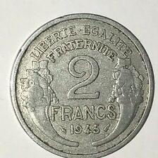 Pièce Ancienne - 2 Francs Morlon 1945 - Ancient French 2 francs coin