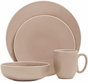 Vera Wang Wedgwood Vera Colors 15-Piece Dinnerware Set in Taupe - Missing 1 Bowl