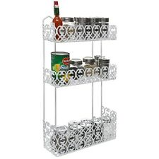 Wall Mount Spice Rack Kitchen Shelf Basket Holder Storage Home Bathroom 3 Tier