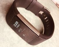 Fitbit CHARGE 2 Heart Rate + Fitness Wristband - Black - LARGE. Brand New Band