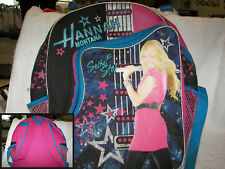 "Hannah Montana Forever Full Size 16 x14x5""  glitter  netting and vinyl picture"