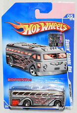 Hot Wheels 2009 Hw Ciudad Obras Surfin ' Autobús Escolar #05/10 Factory Sellado