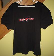 Girl's Fox Racing Black Short Sleeve T-shirt Size XL