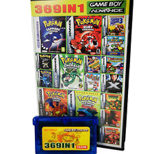 Gameboy advance 369 in 1 multi cart for GBA Mario, Pokemon, Kirby