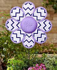 Jumbo Chevron Purple Flower Garden Stake Wall Art Outdoor Yard Home Decor NEW