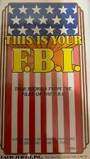 OLD TIME RADIO -THIS IS YOUR FBI - 9 FULL HOURS - 18 SHOWS ON 6 CASSETTES