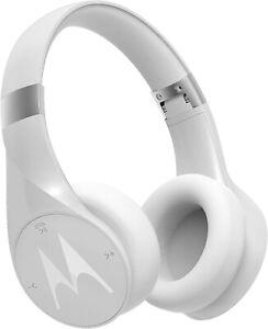 NEW Motorola Pulse Escape+ Plus Wireless Bluetooth Over-Ear Headphones - White