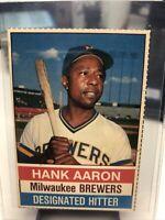 1976 Hostess Hank Aaron #94 Hand Cut Card