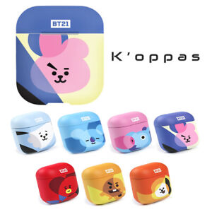Official Kpop BTS BT21 Airpods 3D Hard Case Cover With BTS Instagram Photo Card