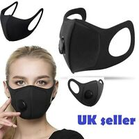 Reusable And Washable Face Mask Black Protective Covering Mouth UK