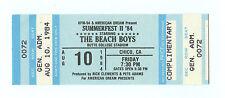 The Beach Boys Ticket 1984 Aug 10 SUMMERFEST II 84 Chico