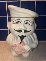 P & K Vintage Chef Biscuit Barrel / Cookie Jar 10 Inch Price Kensington PEK