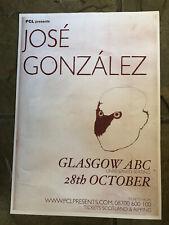 More details for jose gonzalez - glasgow, concert/ gig poster, october 2007!