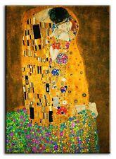 Gustav Klimt - Der Kuss - 60x90cm Jugendstil Leinwand Kunstdruck