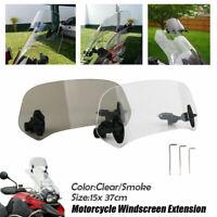 Transparent Clip Réglable Moto Pare-brise Déflecteur de Vent Spoiler d'Extension