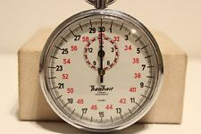 "VINTAGE GERMANY SPORT WORKS STOPWATCH CHRONOMETER 1/10 SEC ""HANHART"" 3 JEWELS"