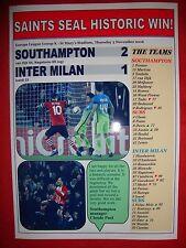 Southampton 2 Inter Milan 1 - 2016 Europa League - souvenir print