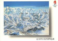 BR14939 Le Site Olympique Panorama Pierre Novat Albertville map  France
