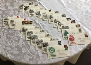 20 Different First Day Issue Collectible Envelopes Stamps 1960's & 1970's
