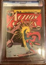 ACTION COMICS #48 Superman Japanese WWII War Cover CGC 7.0 DC Comics 1942 8.0?