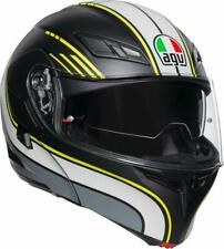 CASCO MODULARE AGV COMPACT ST BOSTON BLACK - GREY - YELLOW TAGLIA S