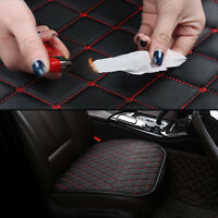 Auto Seat Cover Front Cushion Black PU+ Red Line Universal Car Chair Accessories