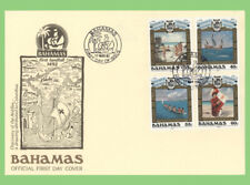 Bahamas 1992 First landfall, Christopher Columbus set on First Day Cover
