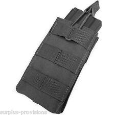 Condor MA18 Single 5.56 Open Top Mag pouch Black - Tactical clip Molle