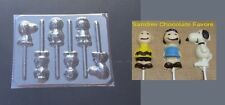 PEANUTS Charlie Brown Snoopy Lucy Lollipop Chocolate Candy Soap Mold