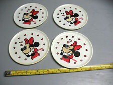 MINNIE  MOUSE PLATES (4) H.G. LONG  BEACH  NY  1-601-38   4 & 1/4'' VINTAGE