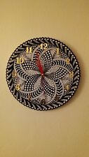 Wall clock new 12 inch color-white, black, gold, red w/silent mech.