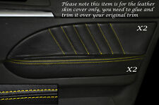 Yellow Stitch 2x ANTERIORE PORTA CARD Trim in pelle copre gli accoppiamenti ALFA ROMEO 159 05-12