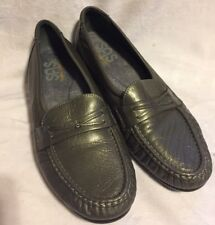 SAS Tripad Comfort Women's Shoes Sz 9.5M Silver Gray Slip On Loafers Fashion