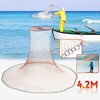 14ft Spread Dia Hand Cast Aggravated Fishing Net Spin Easy Throw Bait Nylon