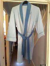 WOMEN'S DRESSING GOWN LIGHT BLUE SIZE SMALL / MEDIUM DARK BLUE TRIM