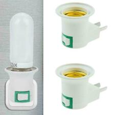 1PC E27 Light Bulb Socket Holder Plug-in Adaptor Screw Lamp White Base Wall D7F8